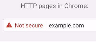 Chromemostrará como inseguroslos sitios que no tengan HTTPS