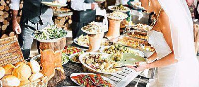 Tipos de comida en el banquete para bodas