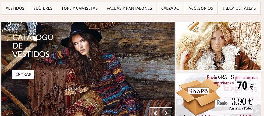 www.shokomoda.com, es una tienda de venta on line, de ropa y complementos para mujer,  vestidos, tops, camisetas, prendas básicas, suéters, complementos de vestir, botas, sandalias, etc.. todo de últimas tendencias,  trabajamos con diferentes fabricant