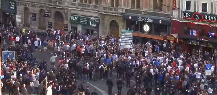 Disturbios en Lille | Foto: Youtube