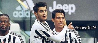 Morata celebra un gol con la Juventus. Foto: Instagram.