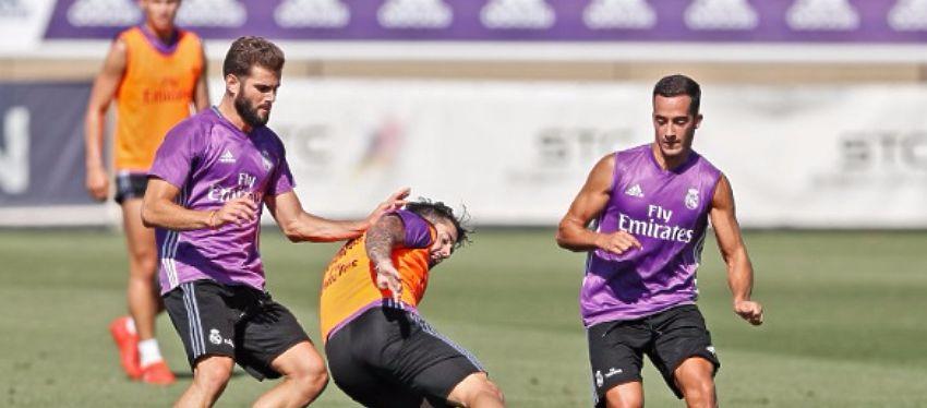 El Madrid se ejercita antes de recibir al Celta. Foto: Real Madrid.