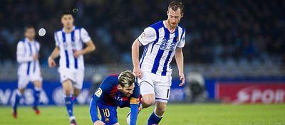 Ni siquiera Messi pudo con una Real que volvió a hacerse fuerte ante el Barça. Foto: Twitter.