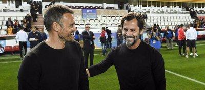 Luis Enrique y Quique ya coincidieron en la Supercopa de Cataluña el pasado mes de octubre. Foto: Mundo Deportivo.