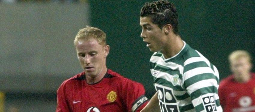 Cristiano Ronaldo, en su etapa en el Sporting de Portugal. Foto: Twitter.