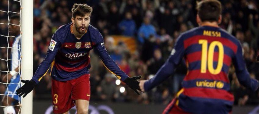 Piqué celebra un gol con Messi la pasada temporada. Foto: Instagram.