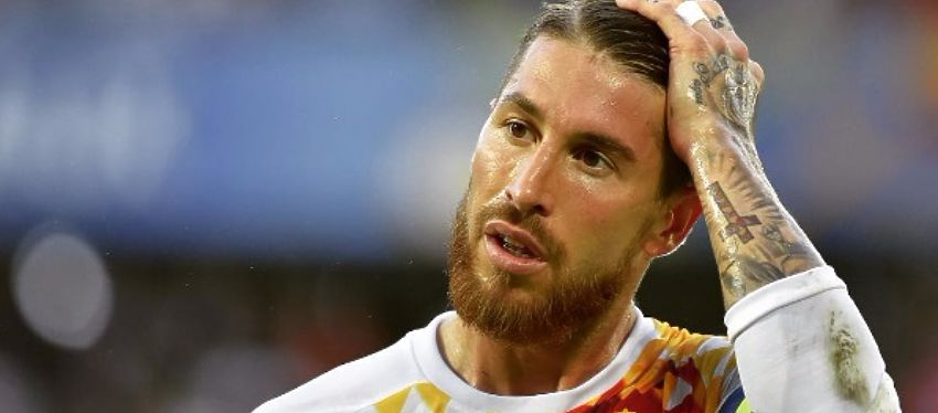 Sergio Ramos es uno de los jugadores apercibidos en los octavos de final. Foto: @uefaeuro.