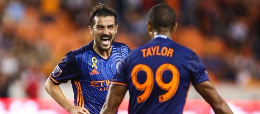Villa, a sus 34 años, sigue teniendo el gol en la sangre. Foto: Twitter.