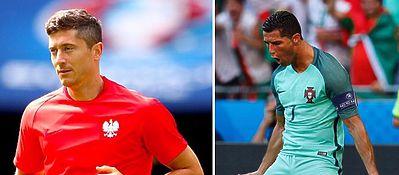Lewandowski y Cristiano Ronaldo serán los dos protagonistas de los cuartos de final. Foto: Instagram.