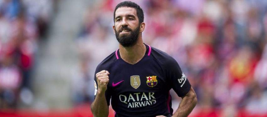 Arda celebra un gol con el Barça. Foto: Twitter.