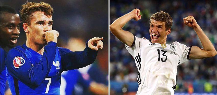Será la primera vez que Francia y Alemania se enfrenten en la fase fina de una Eurocopa. Foto: Instagram.
