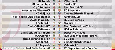 Cultural-Real Madrid, Hércules-Barcelona y Guijuelo-Atlético en Copa del Rey