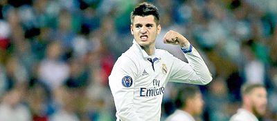 Álvaro Morata volvió a ser decisivo en la victoria del Real Madrid. ante el Athletic. Foto: Twitter.
