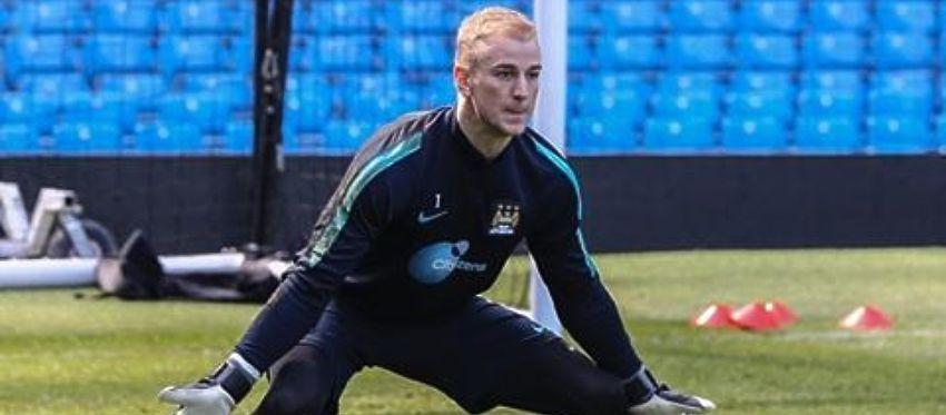 Joe Hart, en un entrenamiento con el Manchester City. Foto: Instagram.