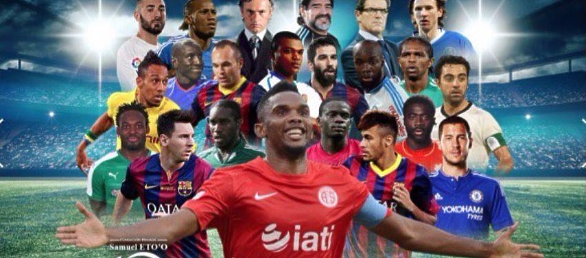 Este era el cartel de presentación del partido benéfico organizado por Samuel Eto'o. Foto: Instagram.