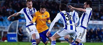 Messi intentará derribar Anoeta tras nueve años sin conocer la victoria allí. Foto: Twitter.