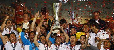 El Sevilla entrará en el libro 'Guinness' de los récords por su hegemonía en la Europa League. Foto: Twitter.