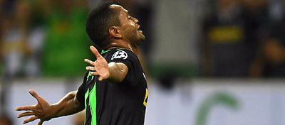 Raffael celebra un gol con el Borussia Mönchengladbach. Foto: @rtn_fcbarcelona.