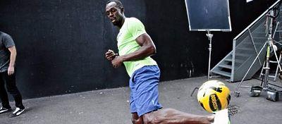 ¿Será Bolt el nuevo Aubameyang en el Dortmund? Foto: @mordu2foot.