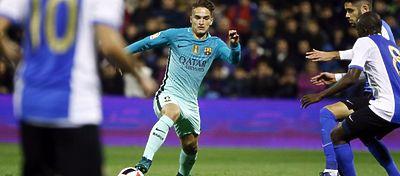 Ni los Denis, Arda o Alcácer lograron pasar del empate ante el Hércules. Foto: FC Barcelona.