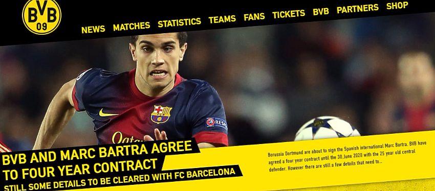 El Borussia Dortmund anuncia en su web oficial el fichaje de Marc Batra.