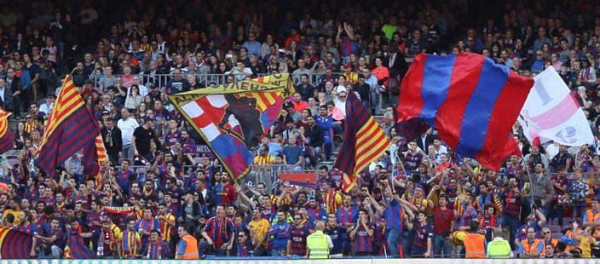 La grada del Camp Nou mostrará mañana su rechazo a Javier Tebas con una pañolada. Foto: Twitter.