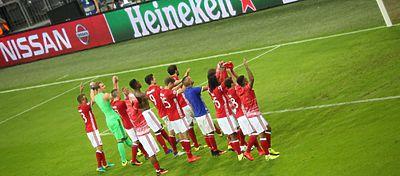 Jugadores del Bayern celebrando la victoria |Foto: Twitter