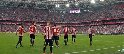 Tras ocho enfrentamientos consecutivos en el nuevo San Mamés, el Athletic no falló en el derbi. Foto: Twitter.