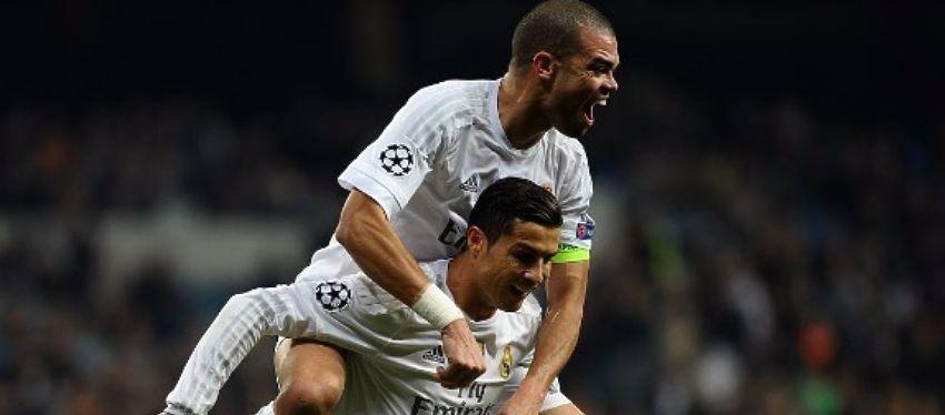 Pepe celebra un gol junto a Cristiano Ronaldo. Foto: Instagram.