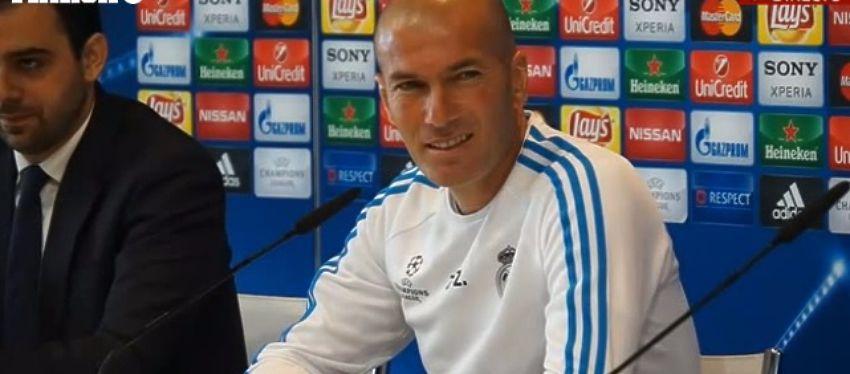 Zidane comparece en rueda de prensa. Foto: Marca TV.