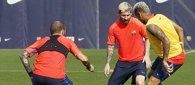 Entrenamiento del viernes del FC Barcelona   Foto: @FCBarcelona_es