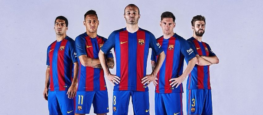 Esta será la primera equipicación que el Barça lucirá la próxima temporada. Foto: FC Barcelona,