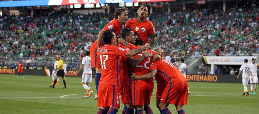 Chile celebra uno de los 7 goles conseguidos | Foto: | @LaRoja
