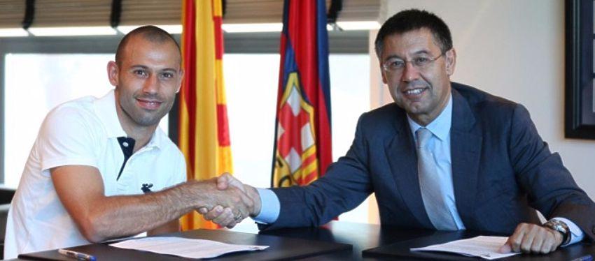 Mascherano estará vinculado al FC Barcelona una temporada más. Foto: Diario Sport.