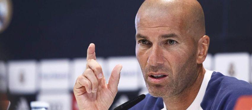 Zidane, en rueda de prensa. Foto: @futbolyonki.