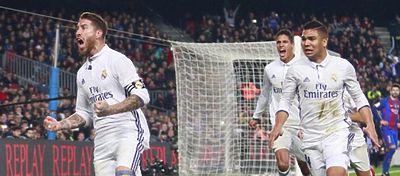 Ramos volvió a ser decisivo para el Real Madrid en los minutos finales. Foto: LaLiga.
