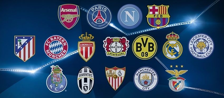 Estos son los 16 equipos que estarán en el bombo de los octavos de final de la Champions. Foto: UEFA.