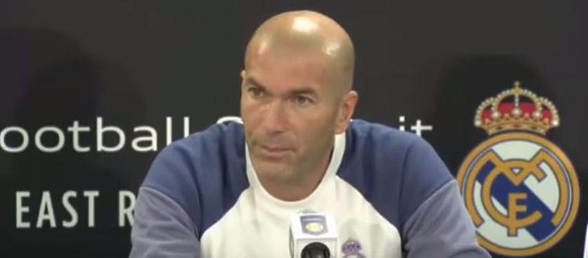 Zinedine Zidane durante la Rueda de Prensa en New York | Foto: Youtube