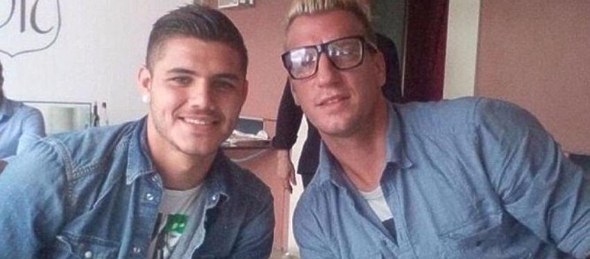Icardi y Maxi López posan juntos antes del lío entre ambos. Foto: Twitter.