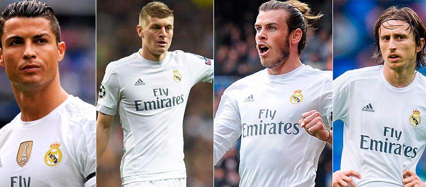 Ronaldo, Kroos, Bale y Modric