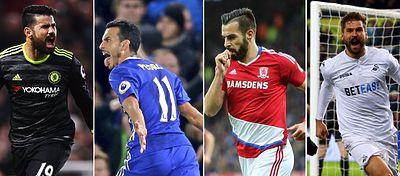 Costa, Pedro, Negredo y Llorente fueron los protagonistas de sus equipos en la pasada jornada de la Premier.