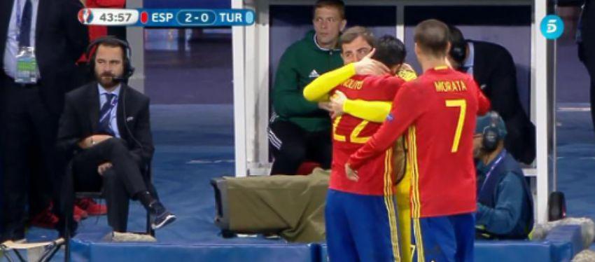 Nolito dedicandole el Gol a Iker |Foto:Youtube