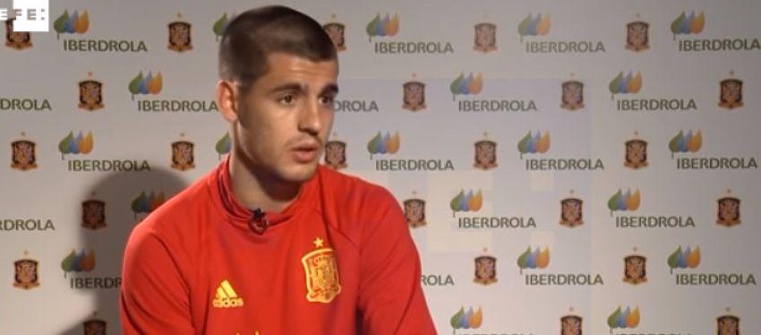Álvaro Morata está llamado a ser uno de los faros en ataque de España en esta Eurocopa. Foto: Youtube, EFE.