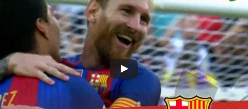 Messi se abraza a Luis Suárez | Foto: Youtube