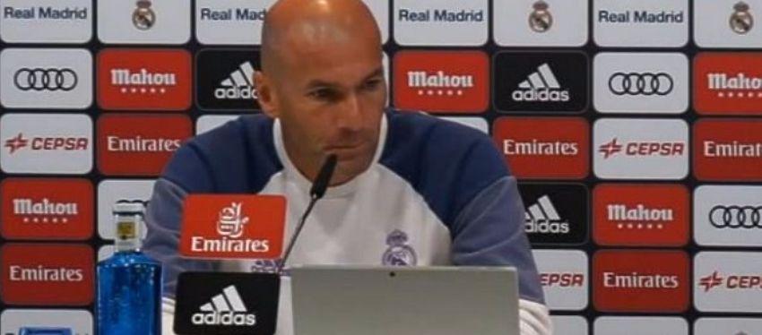 Zidane, en rueda de prensa. Foto: Marca TV.