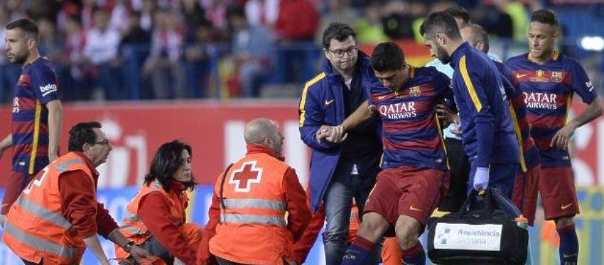 Suárez se retira lesionado del terreno de juego: Foto: @ejutv.