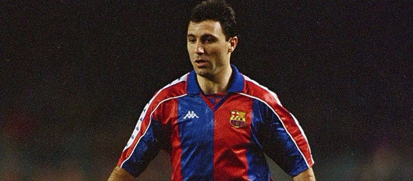 Stoichkov, en su etapa en el FC Barcelona. Foto: Twitter.