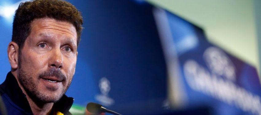 Simeone, en rueda de prensa. Foto: Atlético de Madrid.