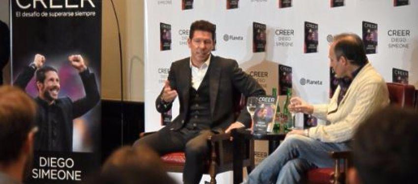Diego Simeone durante la presentación de su libro en Buenos Aires   Foto: @Simeone