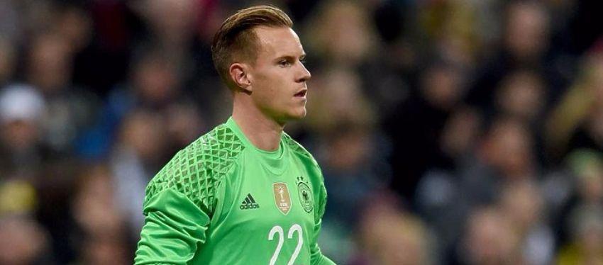 Ter Stegen no pudo tener un mejor debut con Alemania. Foto: Twitter.